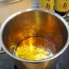 かえしに使う味醂が沸騰している状態