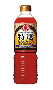 ヒガシマル特選丸大豆うすくち醤油